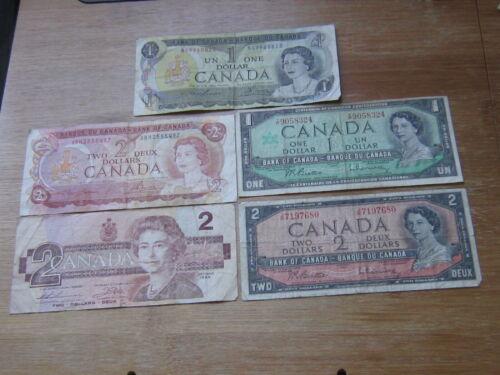 Lot of 5 World Paper Money #1431