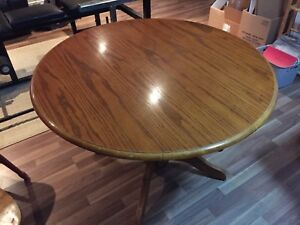 Solid wood kitchen table and four chairs
