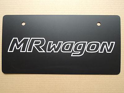 JDM SUZUKI MR WAGON Original Dealer Showroom Display License Plate #2 Dealership