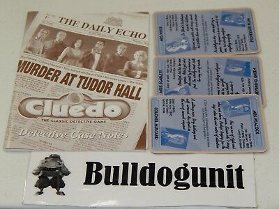 2000 Cluedo Detective Board Game Instructions Case Notes & Description Cards for sale  Shipping to India