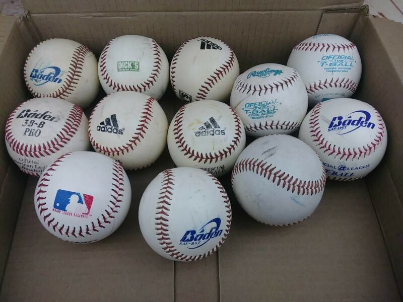 Lot of 6 used baseball balls Major League Baseball