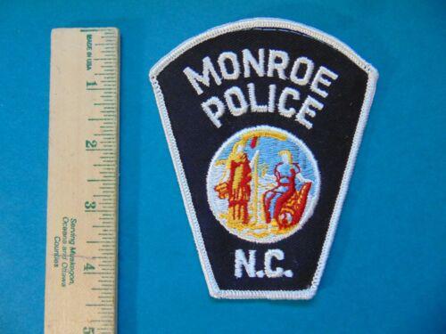 VINTAGE MONROE POLICE NORTH CAROLINA NC POLICE PATCH
