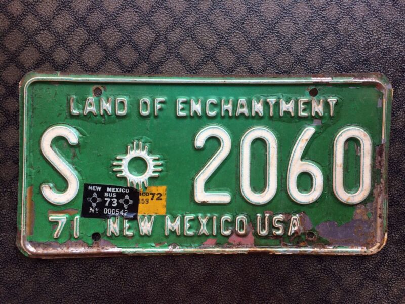 1973 NEW MEXICO LICENSE PLATE S 2060