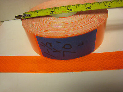 Neon Orange Reflective  Conspicuity Tape 1-12 X 70 Feet Lined