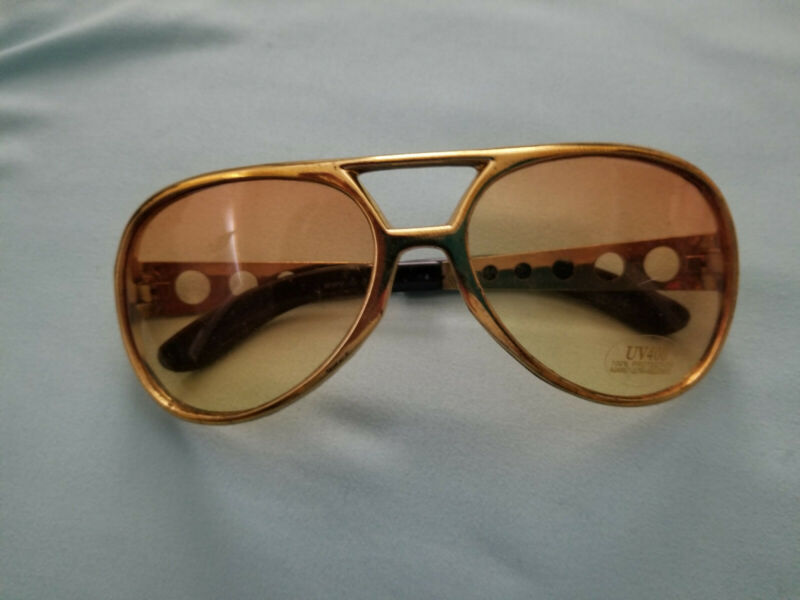 Elvis Presley Sunglasses Costume Gold Glasses King DR. PEEPERS S54406