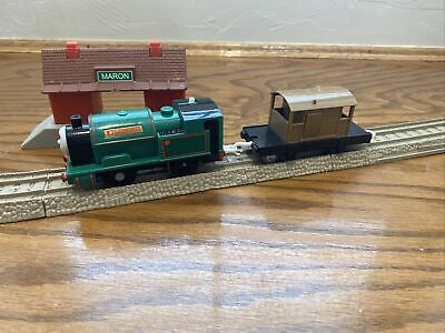 Motorized Peter Sam w/ Brown Brakevan T4643 for Thomas and Friends Trackmaster