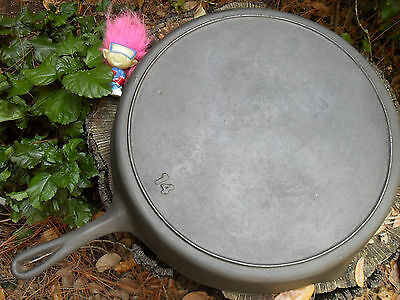 Vintage 14 Cast Iron Skillet with Heat Ring, Clean + Level
