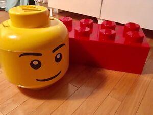 Bloc de rangement LEGO - tête de LEGO