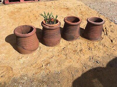 Job Lot of Four 4 Terracotta Potbelly Pot Belly Chimney Pots Plant Pot Garden