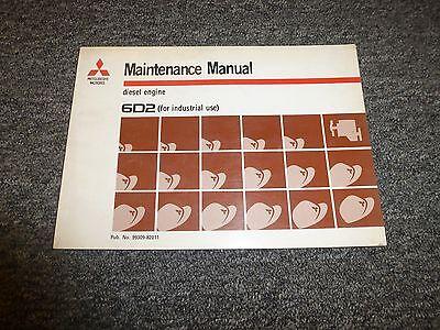 Mitsubishi 6d2 Dozer Diesel Engine Owner Operator Maintenance Manual