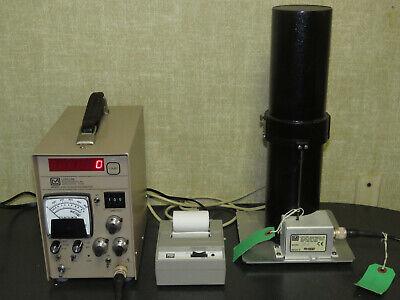 Ludlum 2200 Scaler Ratemeter With 182 Radon Flask Detector Nci Printer