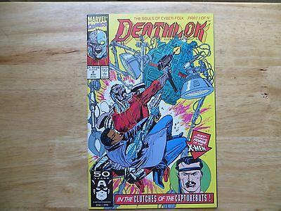 1991 MARVEL COMICS DEATHLOK  # 2, X-MEN FORGE SIGNED ARTIST, DENYS COWAN, COA