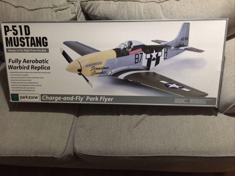 "Parkzone P-51D Mustang Ferocious Frankie RTF Airplane Model Kit—39.5"" Wingspan!"