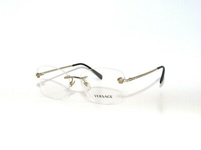 Versace 1248-B Frame 1248B 1252 54 Rimless Gold Eyeglasses Sale VE1248B