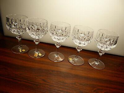 5 Südwein Portwein Gläser Nachtmann Patrizia 12 cm Vintage Blei Kristallglas ()