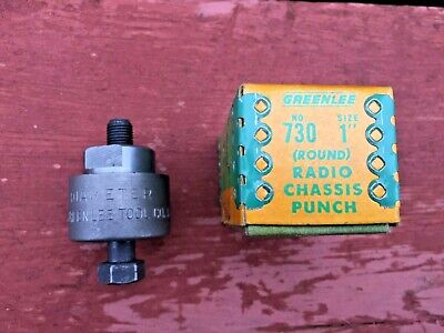 Nice Greenlee No. 730 1 Round Radio Chassis Knockout Punch In Original Box