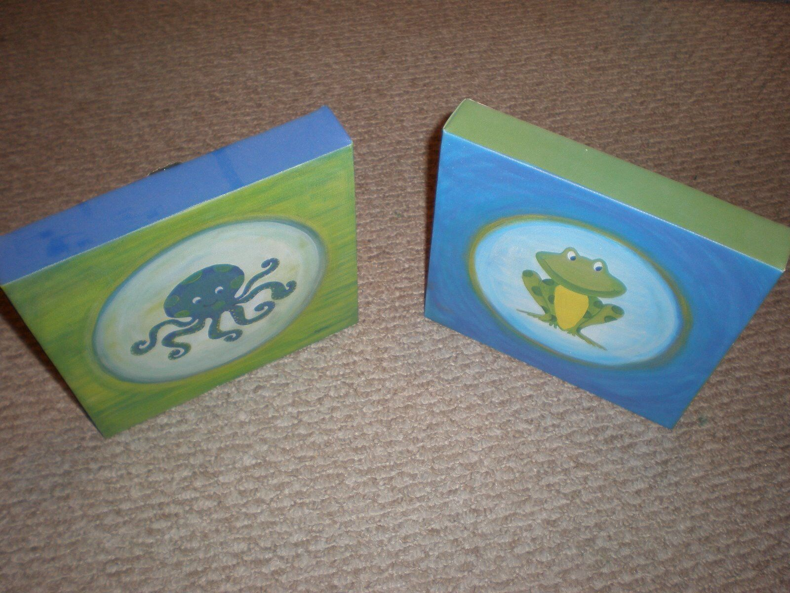 frog and octopus picture frame for kids bedroom set decoration