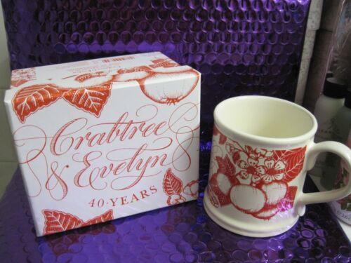 Crabtree & Evelyn Limited Edition 40th Anniversary Annual Mug 1972 - 2012 NewBox