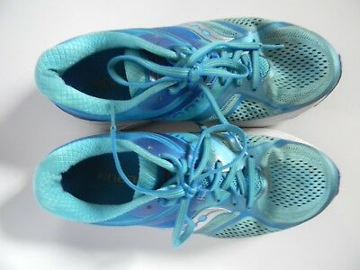 Womens Saucony Guide 10 Aqua Running Shoes Size 8.5 (UK (Sizing Guide Uk)