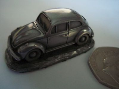 VW Beetle - Pewter Effect 1:92 Scale Model Car