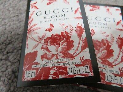 NEW STOCK GUCCI  BLOOM GOCCE DI FIORI PARFUM  SPRAY SAMPLES 2X.05 OZ (Stock Gucci)