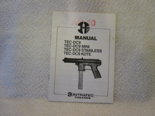INTRATEC FIREARMS 1992 owner manual