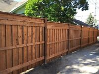 Fence & deck.                        L.M. Contractor