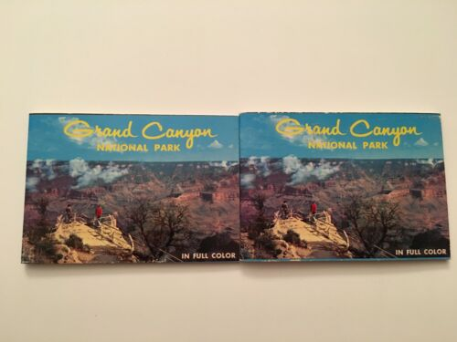 W4) 2x Vintage Grand Canyon National Park Fred Harvey Photo Photograph Booklet