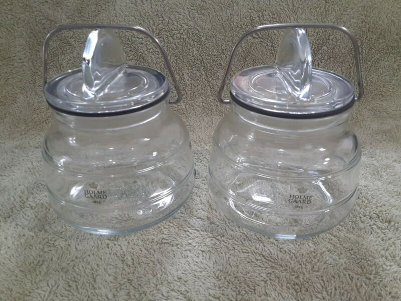 Lot of 2 HOLMESGAARD SCALA JARS. 0.75 Litres. Grey silicone seal. EUC.