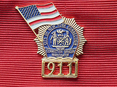 NYC CORRECTION OFFICER INVESTIGATOR 911 LAPEL PIN