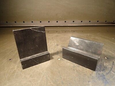 2 Piece Lot Granite Machinist Precision V-block Angle Plate Marbleonyx Used