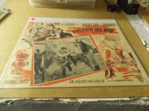 DODGE CITY(1939)ERROL FLYNN ORIGINAL MEXICAN LOBBY CARD 12BY16 NICE!