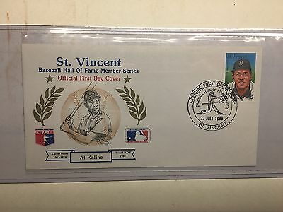 1989 AL KALINE FIRST DAY COVER, ST. VINCENT. MLB LICENSED