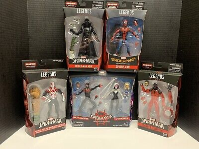 Marvel Legends Spider-Man Lot Miles Morales Spiderverse - 2099 - Noir - NEW!