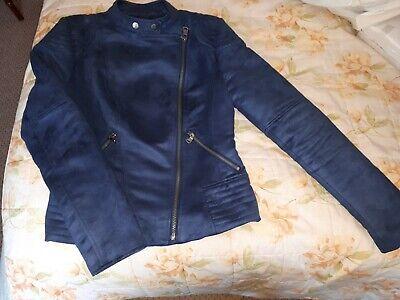 Jessica Simpson Blue Suede Jacket Size XS
