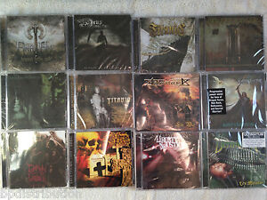 BULK LOT of 100 HEAVY METAL CDs- NEW- Factory Sealed- Classic/Death/Black/Thrash