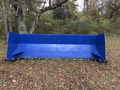 Snow Pusher Bucket Mount Attachment 14 Foot Snow Box Box Plow