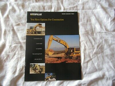 1998 Cat Caterpillar Construction Equipment Options Tractor Excavators Brochure