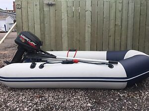 Inflatable Boat Zodiac with9.9 Mercury Outboard