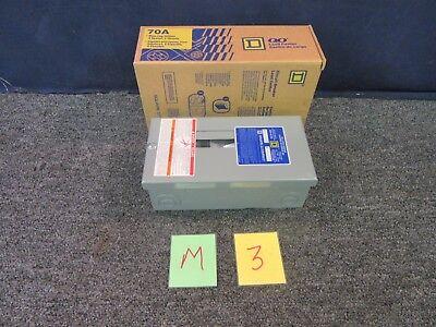 Square D Qo Circuit Breaker Box 70 Amp Main Lug Load Flush Mount Qo2-4l70s New
