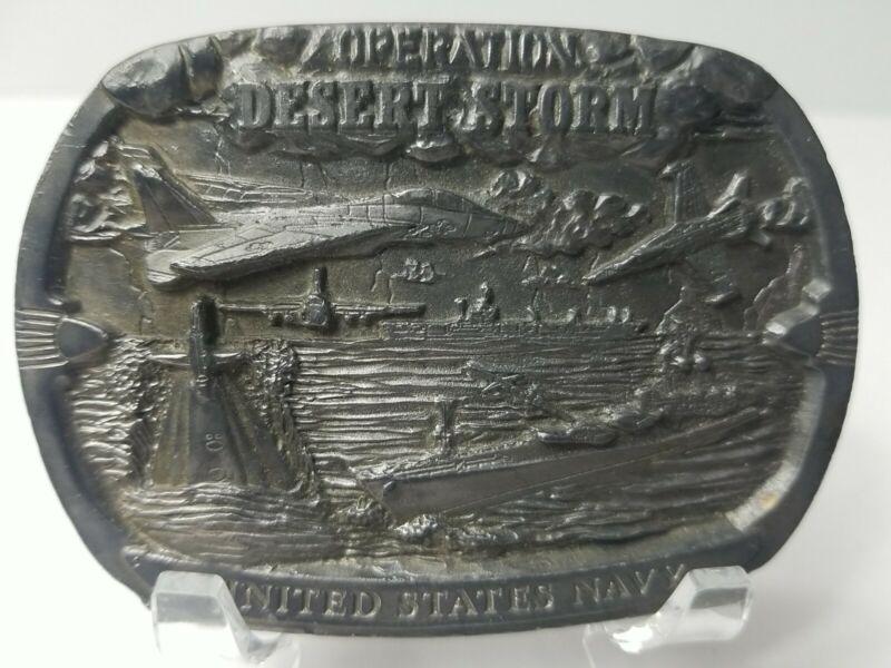 VTG Operation Desert Storm United States Navy Belt Buckle Limited Edition 2 of 5