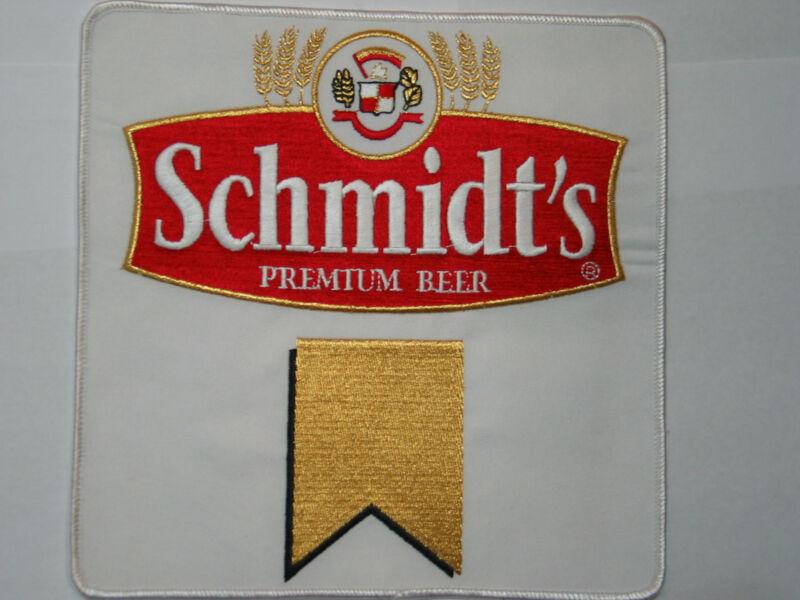 Schmidts Beer Jacket Patch , Large sz