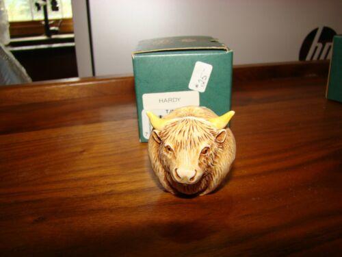 """Harmony Kingdom Roly Poly box TJRPBU """"Hardy"""" buffalo, 2000-1, Adam Binder NEW"""
