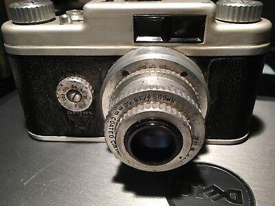 Rangefinder Argus C3 Camera, Case f/3.5 50mm Coated Cintar Lens Flash lenses &