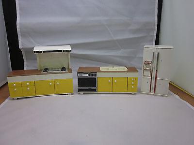 Lot of Vintage Tomy Doll House Furniture Kitchen Set