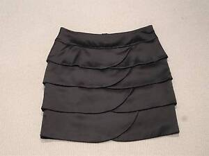 Satin look layered scallop skirt - black party skirt Hornsby Hornsby Area Preview