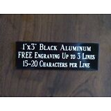 "1""x3"" BLACK NAME PLATE ART-TROPHIES-GIFT-TAXIDERMY-FLAG CASE FREE ENGRAVED"