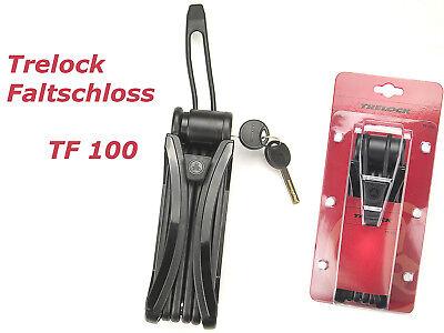 Trelock Faltschloss faltbares Fahrradschloss mit Halterung & 2 Schlüssel 85,5cm