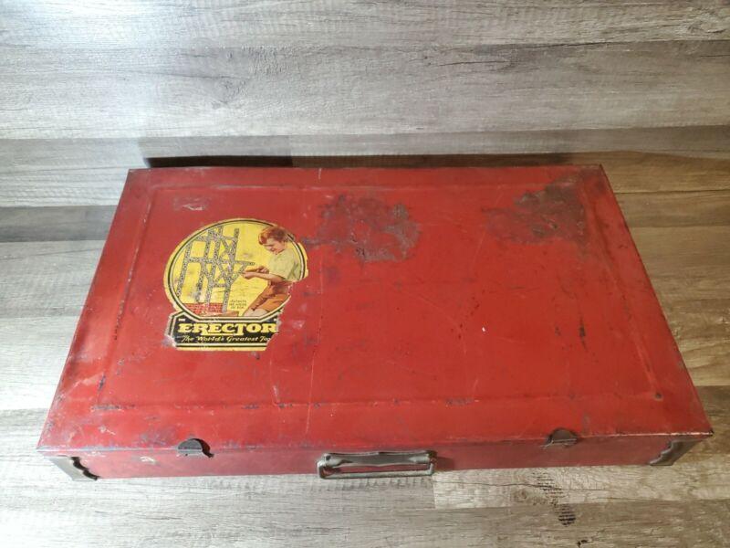 Gilbert 1935 Erector set in Original Metal Case
