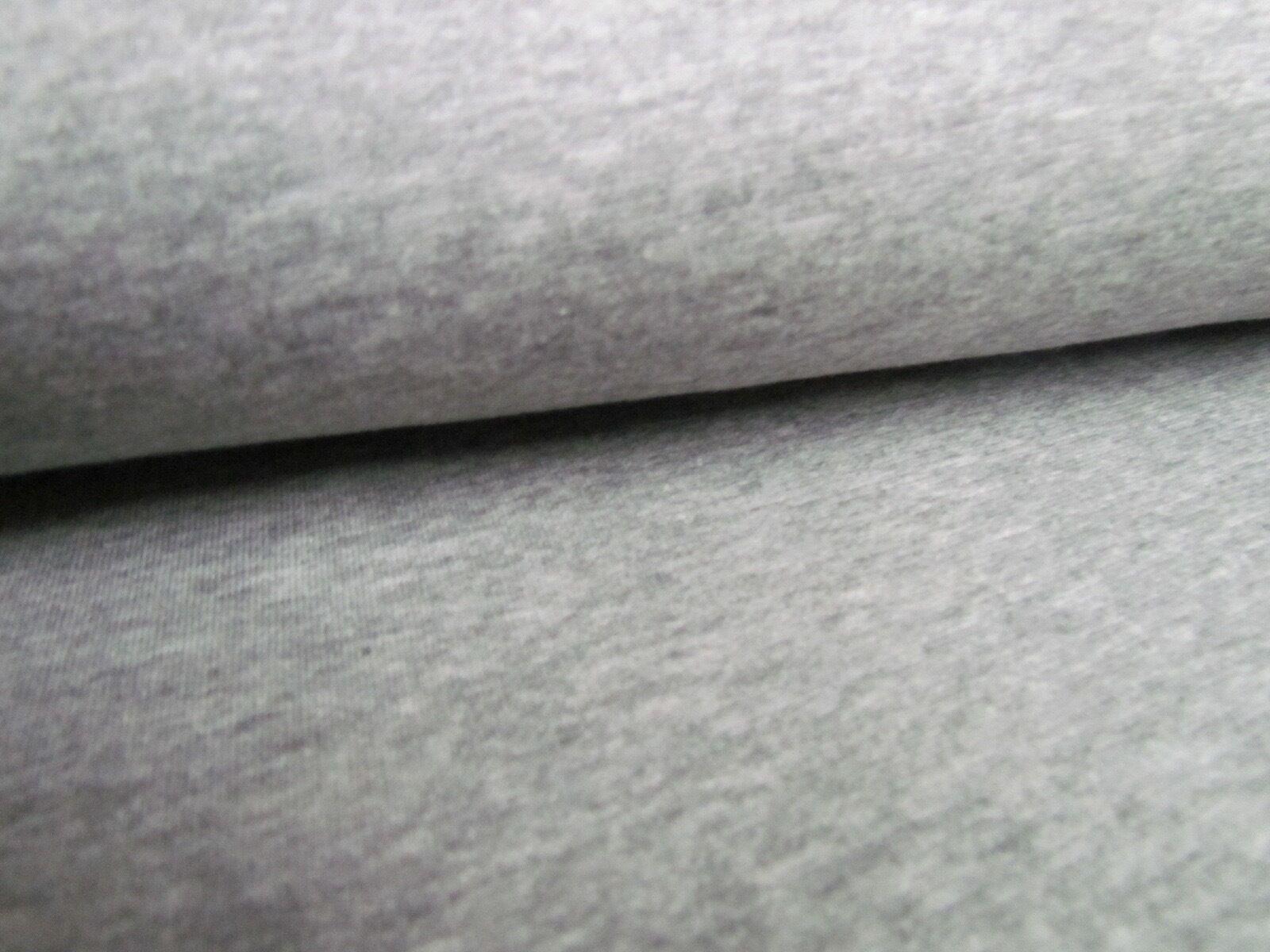 Wintersweat Baumwollsweat hellgrau meliert Baumwolle Sweat Sweatstoff grau